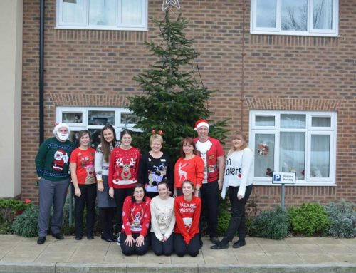 Green Tree Court staff are wearing Christmas jumpers to raise money for Save the Children