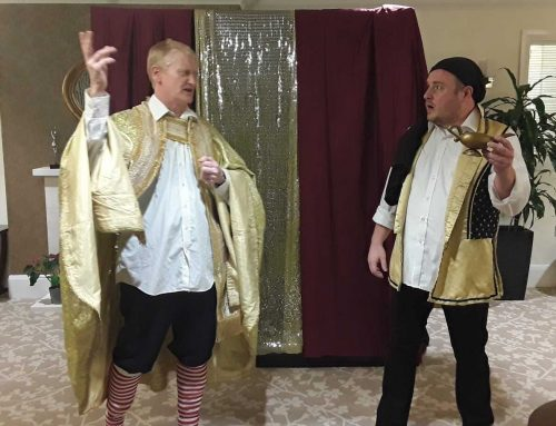 Oh yes they did! The Panto comes to Green Tree Court!