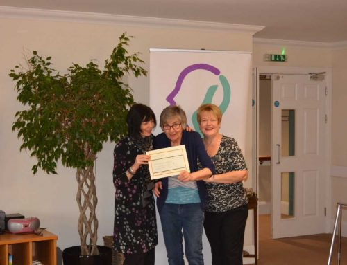 Charity presentations take place at Green Tree Court