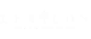 Lexicon Healthcare logo white 352x152px