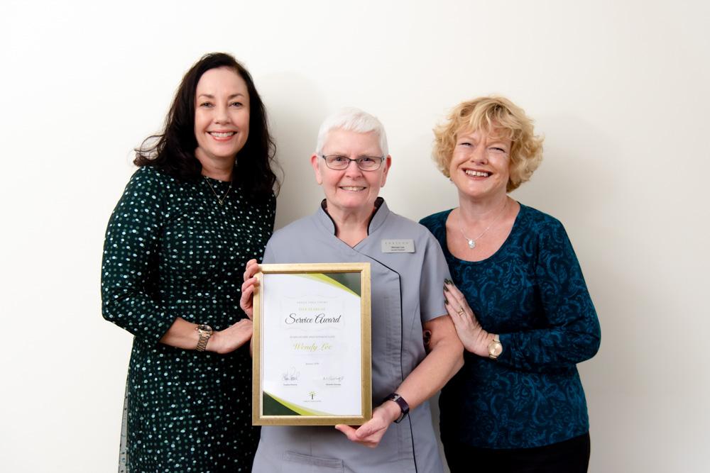 Staff member receiving Star Award